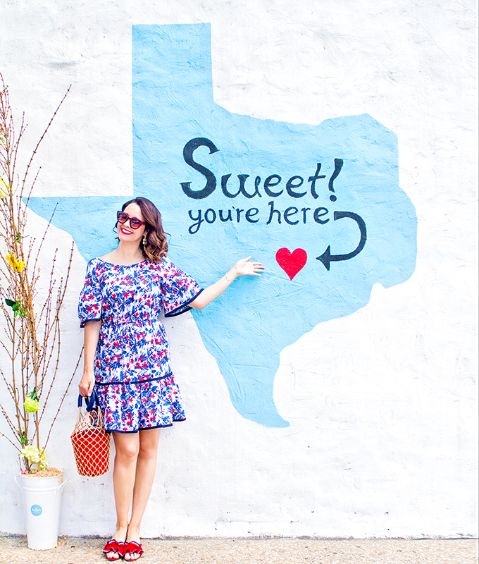 Milly Hibiscus Print Fit And Flare Dress In Austin Texas